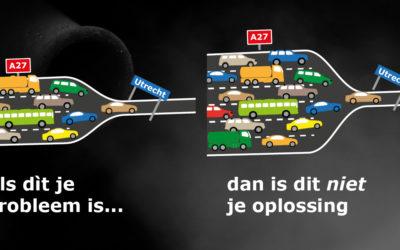 Meer snelwegasfalt werkt niet