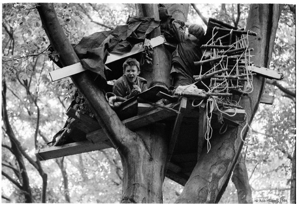 Boomhut Amelisweerd 1982. Rob Huibers.