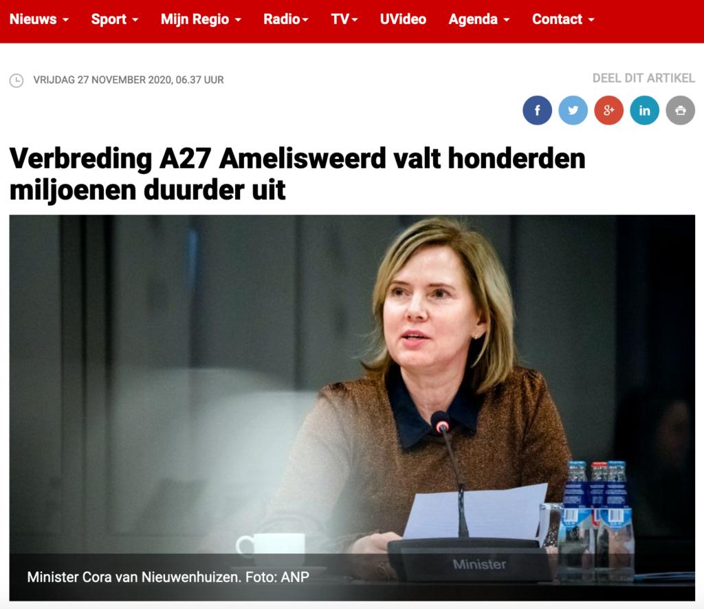 RTV Utrecht Ring Utrecht duurder