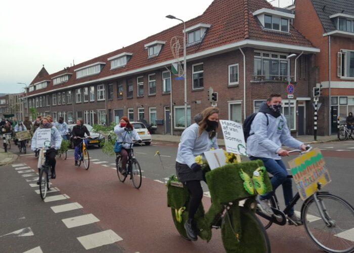 Fietsdemo onderweg foto Remke Spijkers