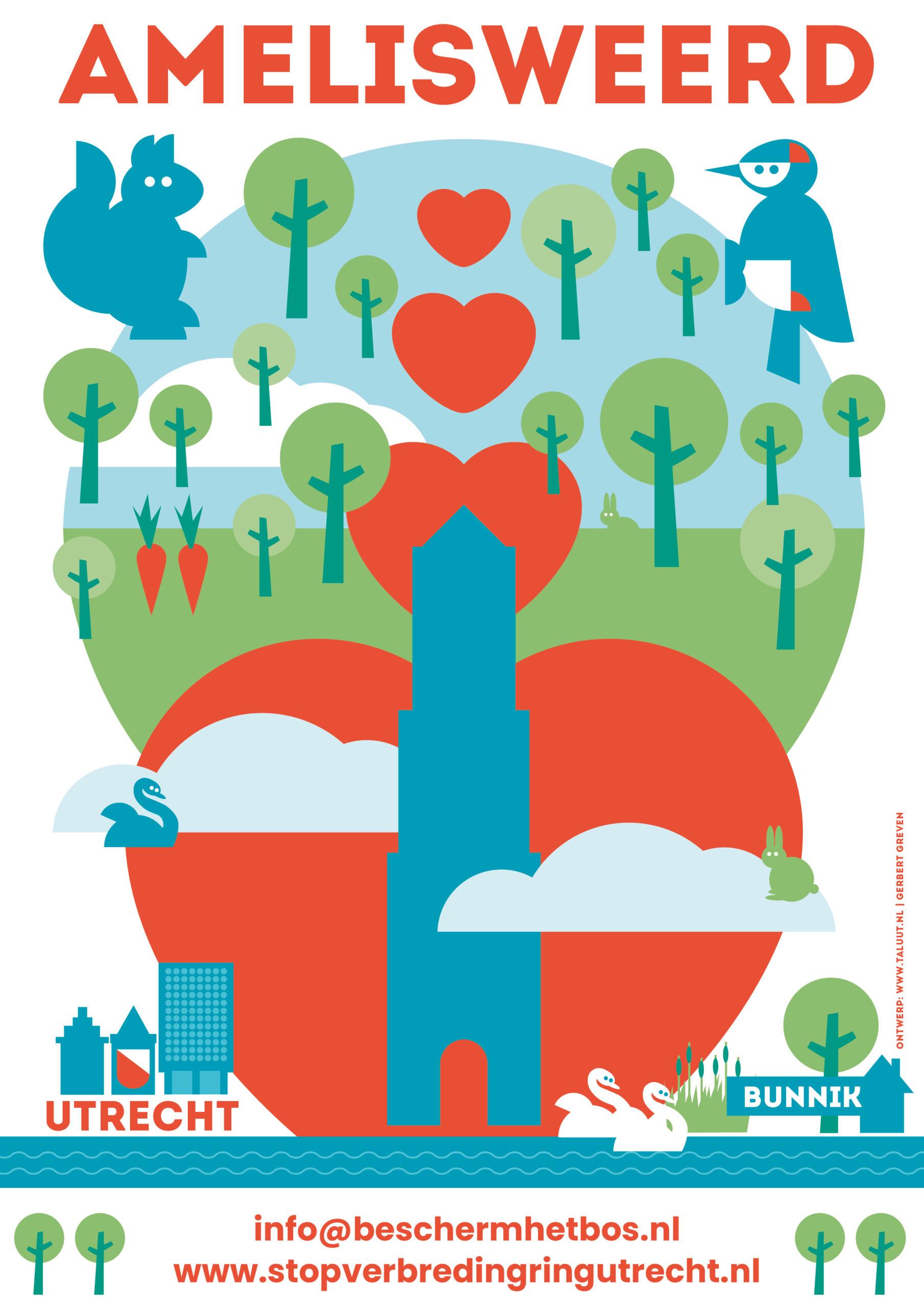 Poster Utrecht loves Amelisweerd Gerbert Greven