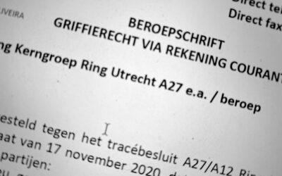 Beroepsschrift Tracébesluit A27/A12