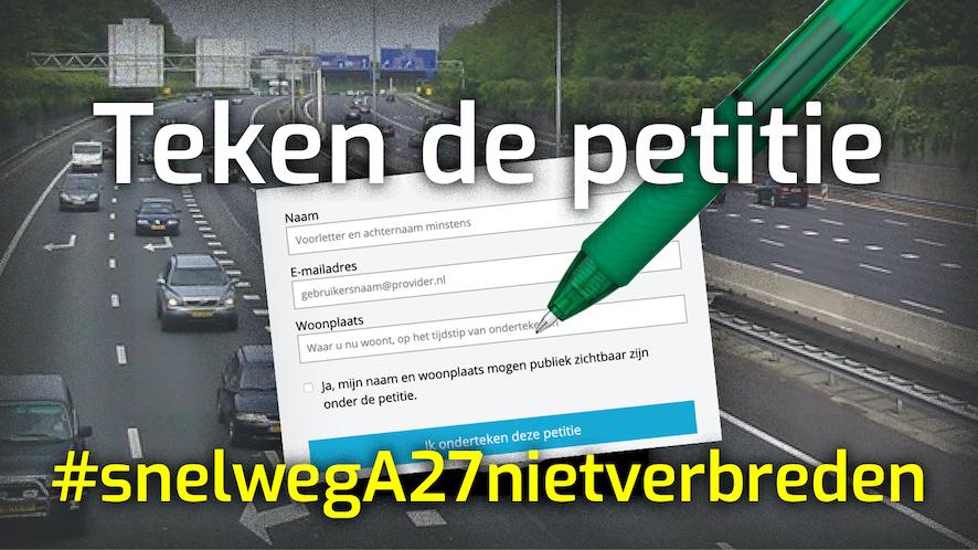 teken de petitie visual