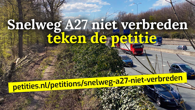 visual petitie A27 niet verbreden